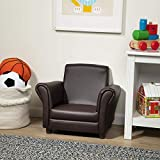 Melissa & Doug Child's Armchair - Coffee Faux Leather