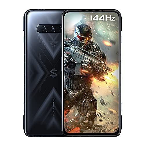 Black Shark 4 [5G] - Smartphone, 8+128 GB, Bildschirm: 144 Hz 6,67 Zoll/ca. 16,9 cm, Snapdragon 870, 48 MP Dreifachkamera, Akku 4500 mAh, LPDDR5 RAM + UFS3.1 Storage, Schwarz (Global-Version)