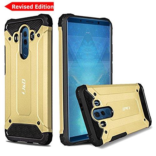 J&D Compatibile per Cover Huawei Mate 10 PRO, [Protezione Robusta] [Armatura Sottile] Ibrida Antiurta Protettiva aspra Custodia per Huawei Mate 10 PRO - Oro