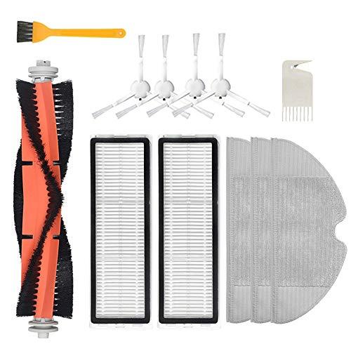 Jaimenalin 12 Piezas para F9 Robot Aspiradora Cepillo Principal Cepillo Lateral Filtro Hepa Trapeador Accesorios de Tela Piezas