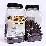 Hibisco Hojas HIERBALIA | Flor de Jamaica | Perfecta para infusiones o cocinar (Bolsa Flor Entera 1 Kg)