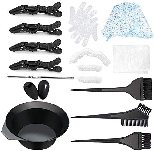 Herramienta antimanchas para teñir el cabello en el salón y el hogar, kit de 8 piezas para teñir el cabello, gorro desechable para teñir el cabello, gancho de plástico para teñir el cabello