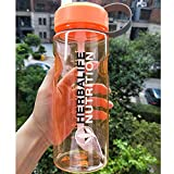 Berrd 6 Colores Herbalife24 Fit 2000ML / 64oz 1000ML / 32oz Shake Sports Paja Botella de Agua Herbalife Nutrition 1000ml Naranja