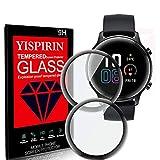YISPIRIN Kompatibel mit HONOR Magic Watch 2 42mm Schutzfolie [2-Stück], 3D Kante Bildschirmschutzfolie, Vollabdeckung, Anti-Kratzer, PMMA Bildschirmschutzfolie für HONOR Magic Watch 2 42mm