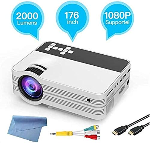 YAYY 1080P HD draagbare projector LED Home Office HD mini-projector multimedia voor kinderen presenteren video TV film party spel outdoor entertainment (upgrade)