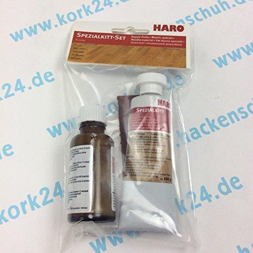 HARO Spezialkitt-Set Eiche Reparaturset zum Ausbessern von Parkett, Laminat und Möbeloberflächen