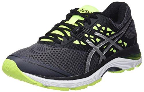 Asics Gel-Pulse 9, Zapatillas de Running para Hombre, Multicolor (Carbon/Silver/Safety
