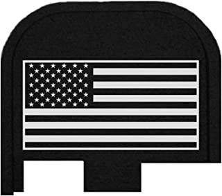 BASTION Laser Engraved Butt Plate, Rear Slide Cover Back Plate for Glock G43, G43X, and G48 9mm ONLY - USA Flag
