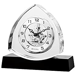 Bulova Clocks B1706 Trident Clock, Clear