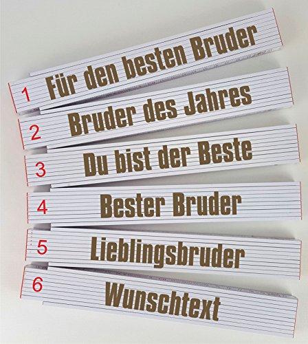 Zollstock mit Wunschtext oder Name graviert - Personalisierter Gliedermaßstab - mit Gravur für Familienmitglieder individuelles Geschenk zum Geburtstag (Bruder)