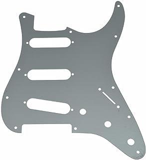 KAISH - Golpeador de guitarra de 11 agujeros ST Strat SSS, placa de aluminio para Fender Stratocaster USA/Mexicano, plateado