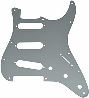 KAISH 11 Hole ST Strat SSS Metal Guitar Pickguard Aluminum Scrach Plate for USA/Mexican Fender Stratocaster Silver