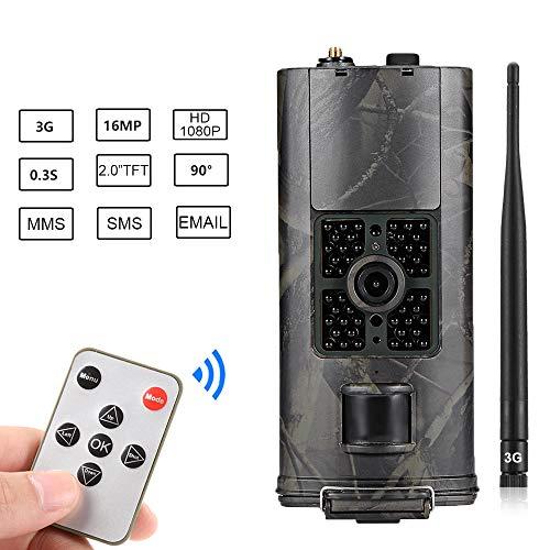 SUNTEKCAM 3G 2G Cámara de Caza 16MP 1080P MMS gsm Cámara de vigilància de la Vida Silvestre, Impermeable IP66 Trail Cámara,Invisible Visión Nocturna Distancia de Disparo hasta 20M,330G