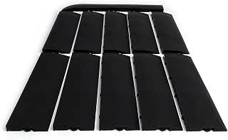 SnapFloors Male Transition Edge Kit, Durable Interlocking Modular Garage Floor Edging (Compatible with all RaceDeck, GarageTrac and GarageDeck Products), Black, 11 Piece