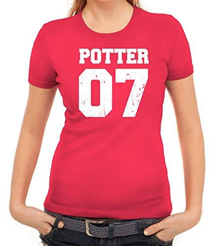 Fanartikel Fan Kult Film Trikot Damen T-Shirt Potter 07, Größe: S,pink