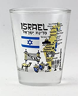 Israel Landmarks and Icons Collage Shot Glass