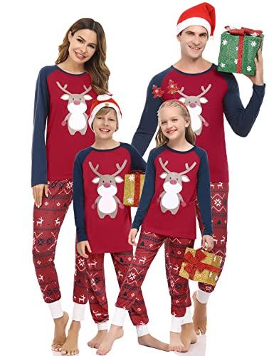 Aseniza Pijamas Navidad Familia Pijamas Mujer Hombre Niñas Niños Invierno para Navidad Pijama Navidad Pareja para Mamá Papá Bebe