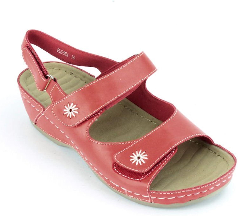 PATRIZIA Spring Step Eudora Red Leather Strappy Sandal US 5.5-6 EU 36