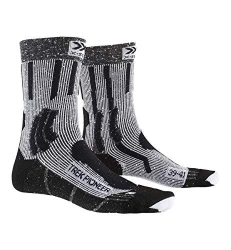 X-Socks Trek Pioneer Socks, Unisex Adulto, Opal Black/Flocculus White, 42-44