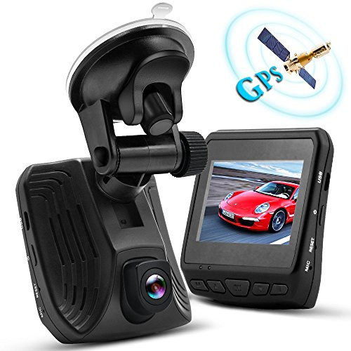 WHLZD 2K Super HD Car Dash Cam with GPS - Night Vision Dashboard Camera Recorder Ambarella A12 Car...