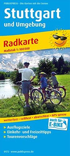 Stuttgart und Umgebung: Radkarte mit Ausflugszielen, Einkehr- & Freizeittipps, wetterfest, reissfest, abwischbar, GPS-genau. 1:100000 (Radkarte: RK)