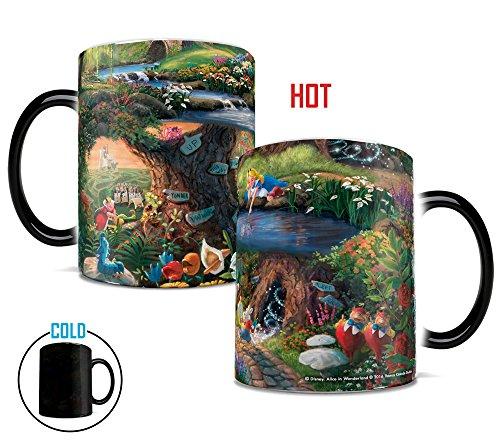 Disney Morphing Mugs Thomas Kinkade Alice in Wonderland Painting Heat Reveal Ceramic Coffee Mug - 11 Ounces