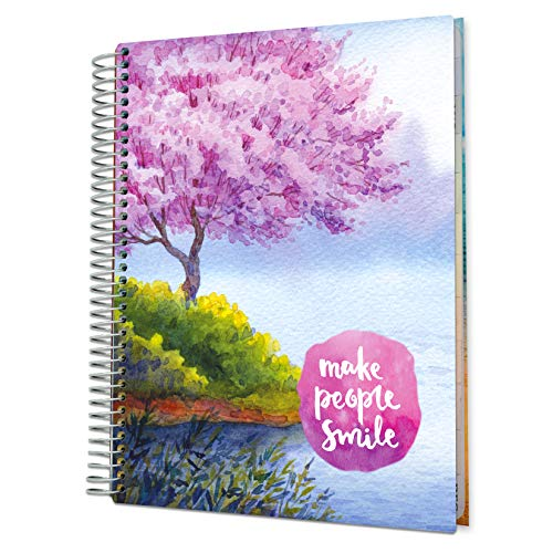 Tools4Wisdom Daily Planner 2021-2022 - Inclusive June 2021 - 8.5 x 11 Hardcover - Full Color Academic Planner Calendar - Vertical Weekly Planner Layout - Q2S15 - Make People Smile