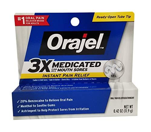 Orajel Mouth Sores Gel Oral Pain Reliever/Antiseptic/Astringentor - 0.42 oz