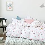 OTOB Cartoon Cute Strawberry Toddler Bedding Duvet Cover Sets Queen Cotton 100 Percent Bed for Girls Teen Kids...