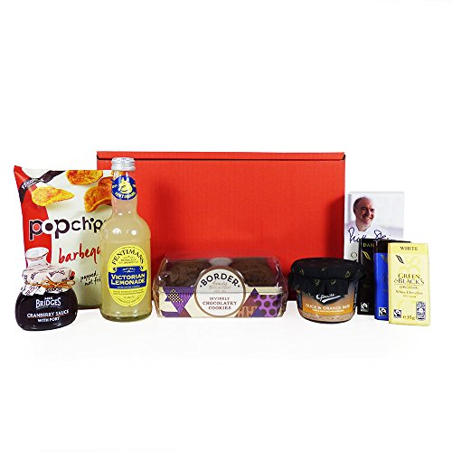 Gents Nibbles Red Gift Box Hamper with 7 Items - Gift ideas for Father's Day, Birthday, Christmas, Anniversary and Corporate Gifts