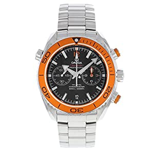 Omega Planet Ocean Chronograph Automatic Orange Bezel Mens Watch image
