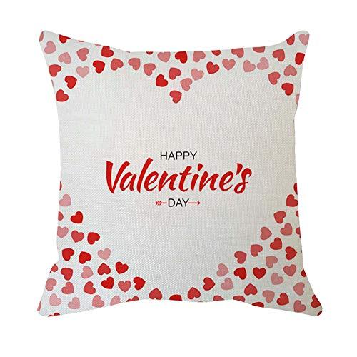 Hunpta @ Valentinstag Kissenbezug Kreativ Kissenhüllen Kopfkissenbezug für Wohnzimmer Schlafzimmer Sofa Büro Zuhause Deko Zierkissenbezüge mit Reißverschlüsse, 45x45cm