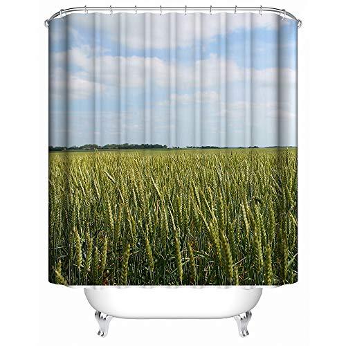 couleur : marron accessoire de salle de bain durable mDesign rideau de douche avec motifs bambou le rideau de baignoire id/éal aux dimensions parfaites de 180 cm x 200 cm