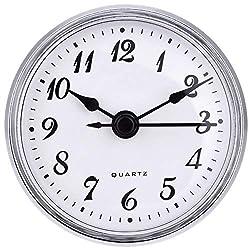 2.8 Inch/ 70 mm Quartz Clock Insert, Gold Trim, Arabic Numeral, Quartz Movement (Silver Trim)