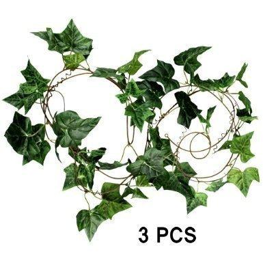 Efeu künstlich hängend, künstliches Efeu Ranke 200cm Efeu Efeuranke künstliche Efeu girlande künstliche Pflanze künstliches Efeu Kunststoff (3pcs)
