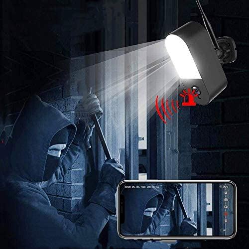 Security Camera Outdoor Wireless WiFi with Floodlight Audio Sound Microphone Night Vision 32GB product image