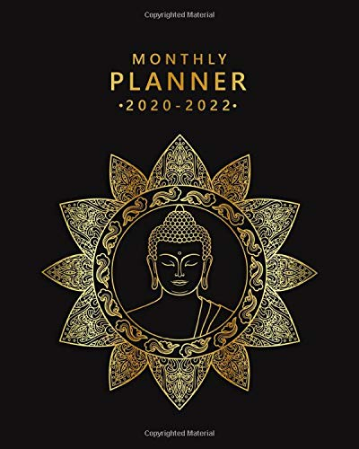 2020-2022 Monthly Planner: Buddha Mandala Flower 3 Year Calendar & Organizer with Monthly Spread Views | Three Year Schedule Agenda with Inspirational Quotes, Notes, Vision Boards & To-Do's