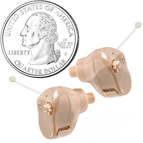 "Amplificador auditivo MEDca Ear ITC (par)""Extra Small"" de segunda generación"