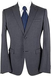 Z Zegna Slate Grey Wool Birdseye Lined Dual Vents Flat Front 2Btn Suit 40R
