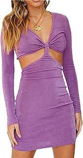 Women 's Bodycon Mini Dress Y2K Vintage Sexy Dress Cut Out Spaghetti Strap Dress E Girls Streetwear