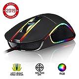 KLIM Aim Mouse da Gaming Chroma RGB - con Cavo USB - Regolabile da 500 a 7000 DPI - Pulsanti...