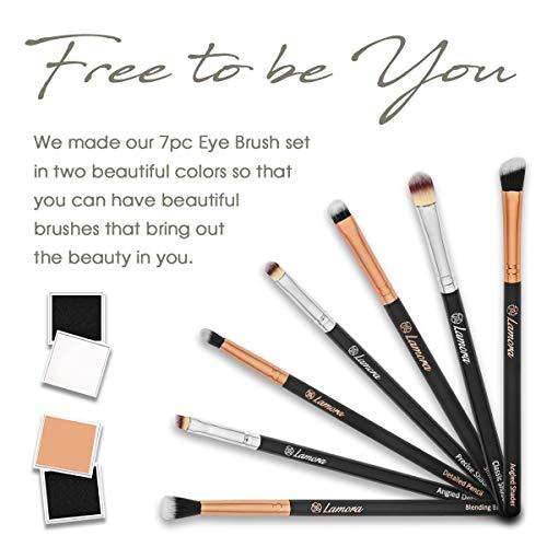 Eye Makeup Brushes Eyeshadow Brush Set - 7pcs Soft Synthetic Eyeshadow Blending Brush Kit - For Blending Eyeshadow, Eyeliner, Crease, Eyebrow - Long Lasting, Apply Better, Flawless Look Makeup