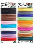 Soul Projekt 100 x Gomas de Pelo sin Metal 4mm, Bandas de Pelo Elásticas de Algodón Cinta para Pelo Grueso, Pesado y Rizado, Colores Variados, (Multicolor)
