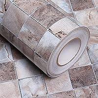 壁紙粘着性壁紙リビングルームキッチンレンガ石模様壁紙バスルームトイレホテルホテル防水防油ステッカー