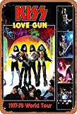 None Branded Kiss Love Gun 1977-78 World Tour Blechschild