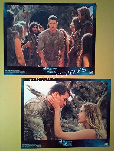 Lobby Card Lot~ PLANET OF THE APES ~2001 ~Mark Wahlberg ~Estella Warren