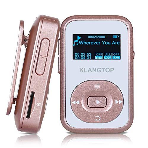 KLANGTOP MP3 Player Sport Bluetooth Musik Player 8G mit Clip 30 Stunden Wiedergabe FM Aufzeichnung