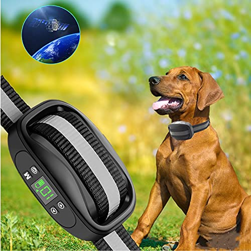 GPS Wireless Dog Fence,Electric Dog Wireless Fence System, Large Signal Range Up to 6564Ft. Accurate Wireless GPS Pet Containment System, Portable Training Collar Suitable and Harmless for All Dogs