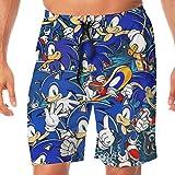 Men's Quick Dry Swim Shorts Sonic Hedgehog Swim Trunks Sports...