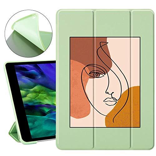Encantadora Cubierta de Flip de imán de Aguacate para iPad Pro 2020 7ª Octavo Estuche de generación Lindo Air 4 3 2 Caso 11 Pro Caja de Plegado de la Tableta (Color : 1107186, Size : iPad Mini 5)